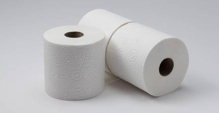 Three toilet paper rolls